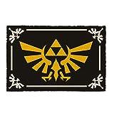 Close Up The Legend of Zelda Fußmatte Triforce Symbol Kokosfaser Schmutzfangmatte 60 x 40 cm