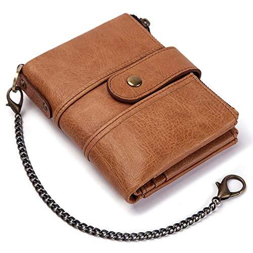 Brieftasche Echtes Leder RFID Brieftasche Männer Crazy Horse Brieftaschen Geldbörse Kurze Männliche Geld Tasche Qualität Designer Mini Brieftasche Kleine, Rot-2