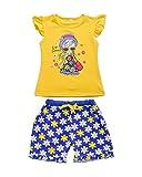 Yilaku Bambine e ragazze T-shirt,top + Pantaloncini 2pcs ragazza Abbigliamento Abiti (4-5 anni, Giallo)