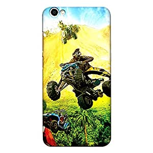 CrazyInk Premium 3D Back Cover for Vivo Y66 - Racing Art