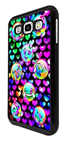 002717 - Disco Neon Colourful Emoji Faces Sad Crying Happy Design Samsung Galaxy Grand Prime Hülle Fashion Trend Case Back Cover Metall und Kunststoff - Schwarz