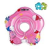 【Colore casuale】moinkerin bambino infantile gonfiabile Anello di nuoto Lap pneumatico galleggiante flipper Anello galleggiante collo per il galleggiante collo 0-12 mesi