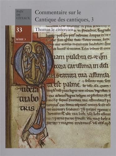 Commentaire sur le Cantique des cantiques : Tome 3 par Thomas le Cistercien