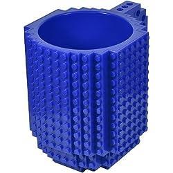 Awesome - Juegos de construcción, diseño taza, compatible con LEGO, color azul
