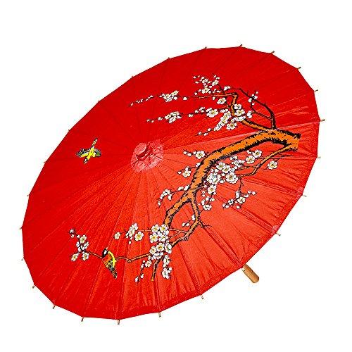 Widmann 66789 - Sonnenschirm aus Reispapier, 4 farbig (Halloween Kostüme Asiatische)