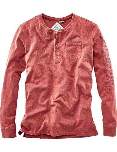 ROADSIGN australia Longsleeve Henley-Shirt Members Only rot S (Long Henley Co Sleeve)