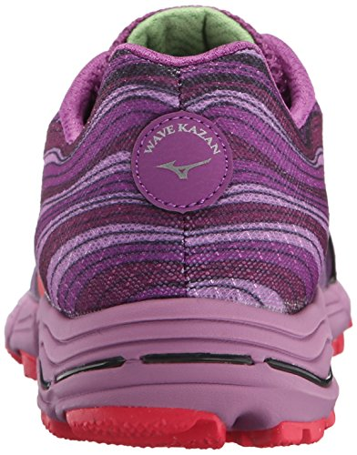 Mizuno Wave Kazan Synthétique Chaussure de Course Purple-Pink-Purple
