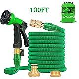 BALABA 100FT Garden Hose,Expanding Garden Water Hose Pipe with 8 Function Spray Gun