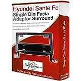 Hyundai Santa Fe Adaptateur de façade d'autoradio Simple Din Adaptateur voiture