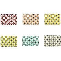 Villa d'Este Home Tivoli Lot de 6Sets de Table Fiji, en PVC, Multicolores, 43,5x 28x 0,33cm