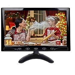 YUZEU 10,1 Pouces HD CCTV Moniteur Petit Écran LCD avec HDMI/VGA/AV Port pour DVR/PC/DVD/Domicile Bureau Système de Sécurité de Surveillance,avec Haut-Parleur