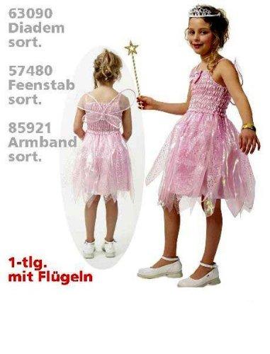 lfenkleid rosa mit Flügeln 116 (Tanz Königin Kind Kostüme)
