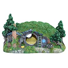 POPETPOP Aquarium Ornaments-1pc Simulation Hobbit House Creative Fish Tank Ornament Aquarium Mini Resin Decoration for Home Store Shop