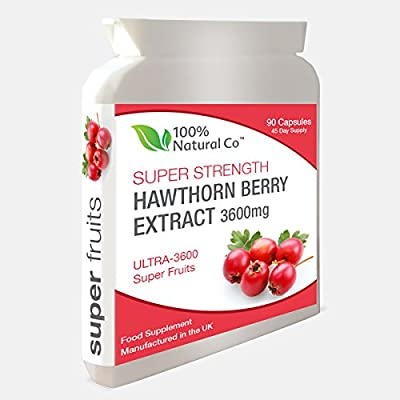 Hawthorn Berry Capsules 100% Natural Co Super Strength Extract from 100% Natural Co.