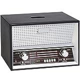 alles-meine.de GmbH Große Spardose -  Radio - Vintage / Schwarz  - Radiogerät - Stabile Sparbüch..