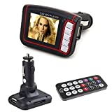 Omiky® 2017 Art und Weise 1,8-Zoll-LCD-drahtloser Auto-Auto FM Transmitter MP3 MP4 Musik-Player USB-Sd MMC Fern