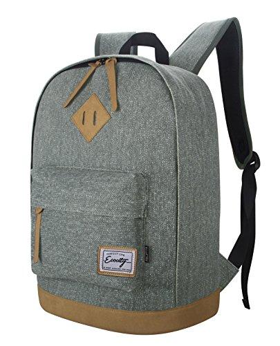 Imagen de ecocity clasico laptop backpack rucksack  escolar para portatil, gris alternativa