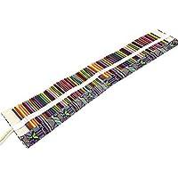 ULTNICE Lápices de colores 48 ranuras envuelven rollo de lienzo lápices porta bolsa para bolígrafos lápices