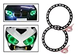 #10: Vheelocityin Green Angel Eyes SMD LED Ring Light Devil Light (set of 2)