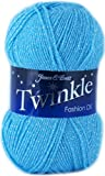 Twinkle Fashion DK Double Knitting Wool 100g Ball Glittery Fashion Yarn James Brett Shade TK17 Blue