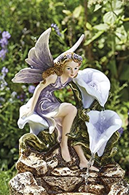 Clifford James Garden Water Feature Solar Powered Fairy Ornament Self Contained