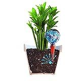 2Mini plantpal Deko Glas Bewässerung, Globes, Bewässerung für Pflanzen Spikes, aqua Spikes, automatische Bewässerung für Pflanzen, Urlaub Bewässerungssystem, dass funktioniert wirklich. Ideal für Haus Pflanzen. Verwendung in 17,8–25,4cm in-Pflanzschalen. Keine müssen Abfall Geld auf andere billiger Globes. (blau, Glas) blau