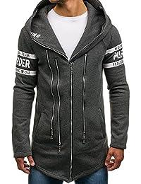 BOLF Men's Longline Hoodie Cape Printed Plain Assassin Streetwear Mix [1A1]