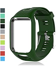 Cyeeson TomTom Runner 2 Watch Replacement Armband Weiche Silikon Farbe Adustable Band Gel Wristband Strap Watch Band für TomTom Runner 2/ Runner 3/ Spark 3/ Spark/ Golfer 2
