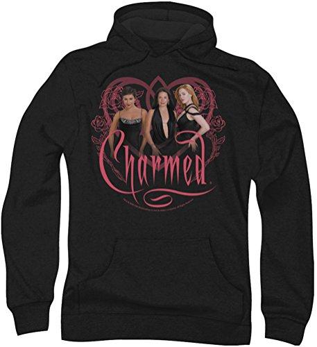 Charmed Charmed-Felpa con cappuccio, da uomo Nero