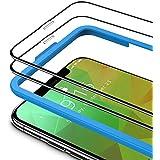 TAMOWA (2-pack skärmskydd för iPhone 11 Pro Max/iPhone XS Max (6,5 tum), 3D helskärm härdat glasskydd 9H okrossbar film med i
