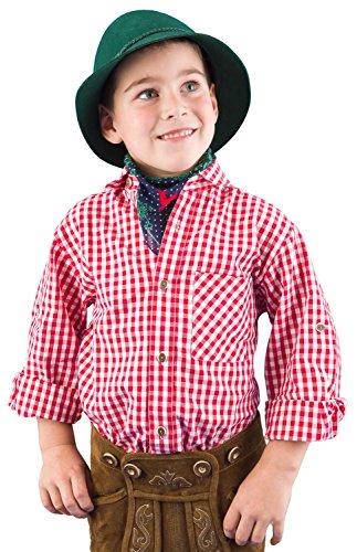 Ederer Max Isar Trachten Kinder Trachtenhemd 52915 rot 176