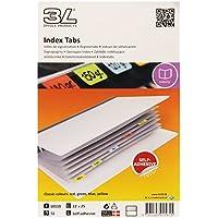 3L 10510 - Separadores para índice (72 unidades, 25 mm, escritura indeleble, varios modelos)