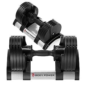 Body Power Revolution réglable (2 haltères 20 kg-Paire
