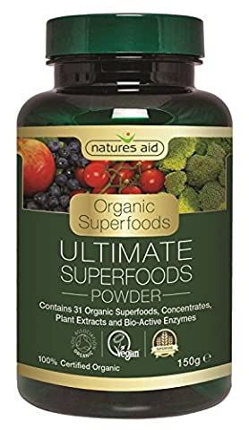 Natures Aid organiques Ultimes Superfoods 60 Capsules 3 Pack