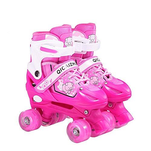 Miarui Leucht Inline Skates Rollschuhe Verschleißfeste Roller Skates Rollschuhe für Kinder Unisex-Kinder Geeignet für Erwachsene und Kinder,1,M(33~37)