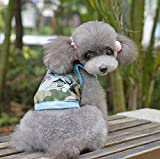 Breathable Clothes Vest T Shirt Small Pet Costume Dog Shirt Dress Appropriately For Summer Sun Protection,B,S