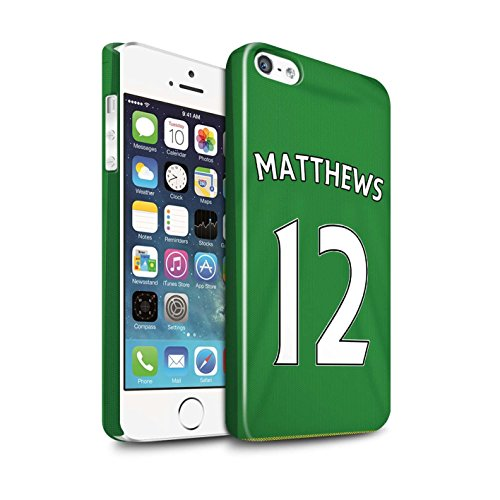 Offiziell Sunderland AFC Hülle / Glanz Snap-On Case für Apple iPhone 5/5S / Pack 24pcs Muster / SAFC Trikot Away 15/16 Kollektion Matthews