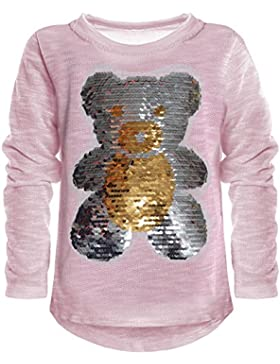 BEZLIT - Blusa - Cuello redondo - Manga Larga - para niña Rosa 10 años