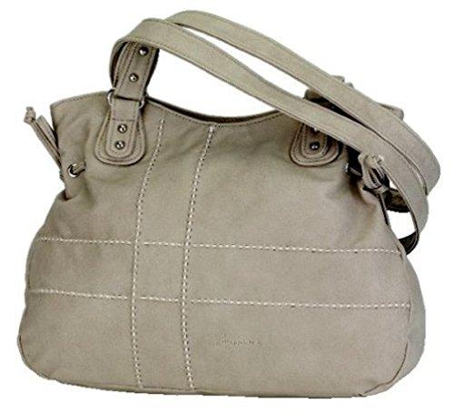 Alessandro SUTURA 3555 Handbag Damen Schultertasche mit Handyfach und RV-Rückfach in 3 Farben ca. 39/28/12 cm Rot