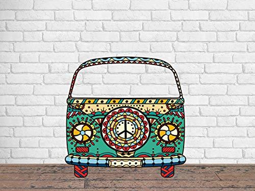 Photocall para Bodas en Cartón Furgoneta Hippie 156x156cm | Photocall