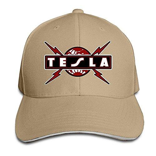 Tboylo Tesla Band Logo Sandwich Peaked Hat Cap Natural 14e94c549784