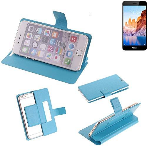 K-S-Trade Flipcover für TP-LINK Neffos C7A Schutz Hülle Schutzhülle Flip Cover Handy case Smartphone Handyhülle blau