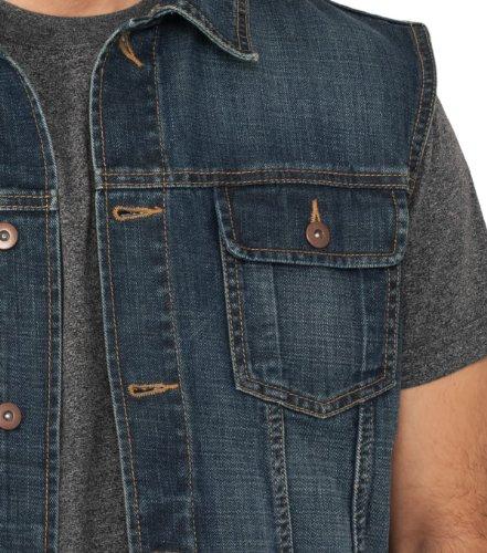 Jeans Weste El Paso, Unisex- div. Waschungen Denim Blue 514
