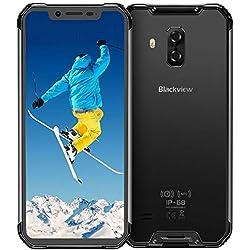 Blackview BV9600 4G Móviles Libre Resistente 2019, Helio P70 Android 9.0 Telefono IP68, 6,2 Pulgadas AMOLED Display Smartphone Antigolpes, Batería 5580mAh,16 + 8MP, 4 + 64 GB Rugged Phone Robusto