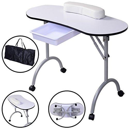 Tisch klappbar – Tragbarer Nageltisch mit Tasche und Handgelenkauflage - 2