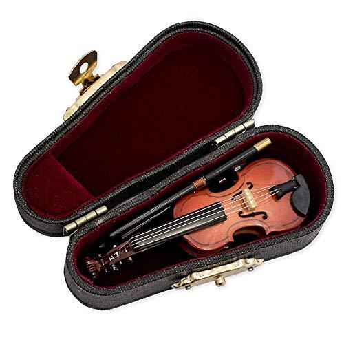 XZANTE Regalos Violín Instrumento Musical Réplica En Miniatura con Estuche, 8x3Cm