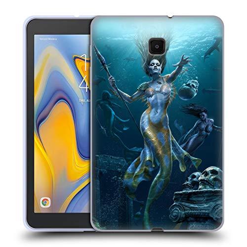 Head Case Designs Offizielle Tom Wood Meerjungfrau Jagt Fantasie Soft Gel Huelle kompatibel mit Galaxy Tab A 8.0 (2018) -