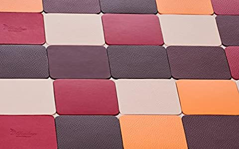 Orange Coasters - Set of 4, Selection of colors: Red, Brown, Burgundy, Orange, Creamy White - 10 * 10 cm, Drink Coasters / Cup Coasters / Glass