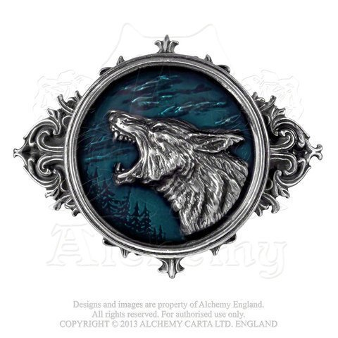 Wulven King of the Wolves Pewter Belt Buckle by Alchemy Gothic of England