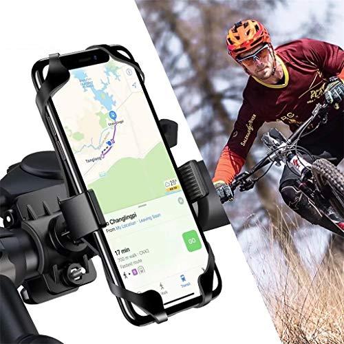 DEtrade 360° Drehbare Anti-Shake Fahrradhalterung Motorrad Handy-Halter Fahrrad Lenker für iPhone/Samsung/Huawei/Motorola Smartphone Mount Holder (Black)